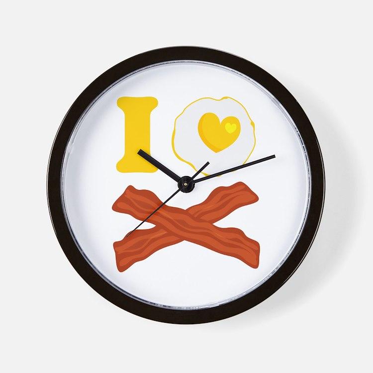 I Love Bacon And Eggs Wall Clock