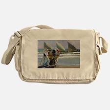 The Three Sails - Joaquin Sorolla Messenger Bag