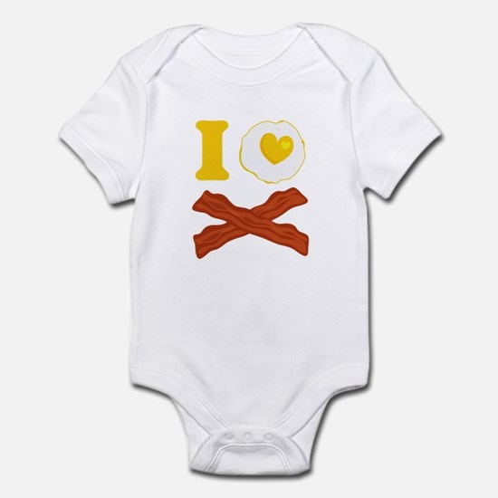 I Love Bacon And Eggs Infant Bodysuit