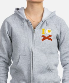 I Love Bacon And Eggs Zip Hoodie