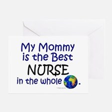 Best Nurse In The World (Mommy) Greeting Card