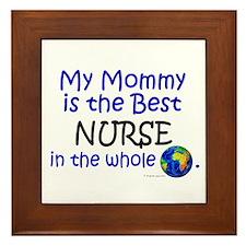 Best Nurse In The World (Mommy) Framed Tile