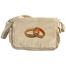 Lgbt Rainbow Rings Messenger Bag