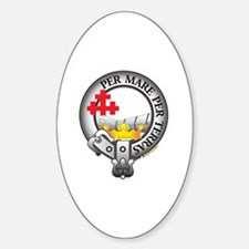 MacDonald Clan Sticker (Oval)