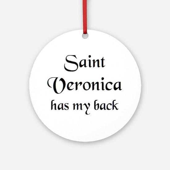 saint veronica Round Ornament
