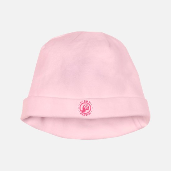 Pink Boxing Gloves Fight Cancer baby hat