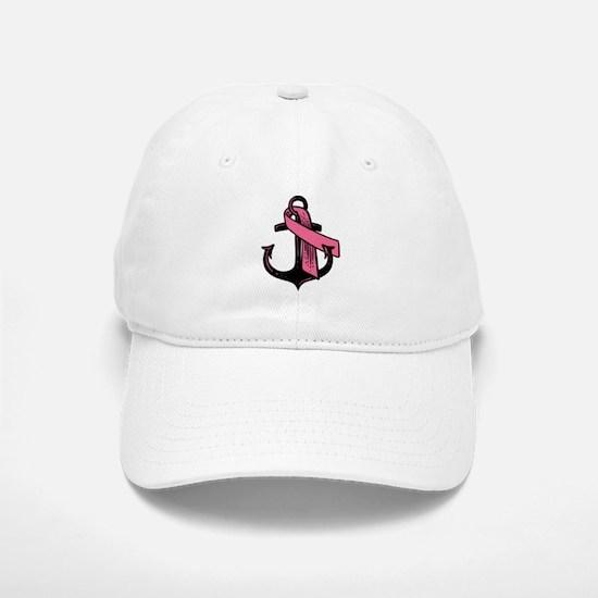 Pink Ribbon Anchor Baseball Baseball Baseball Cap