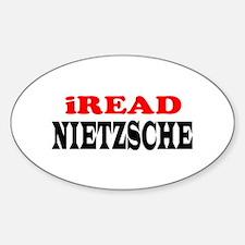 iREAD Nietzsche Oval Decal