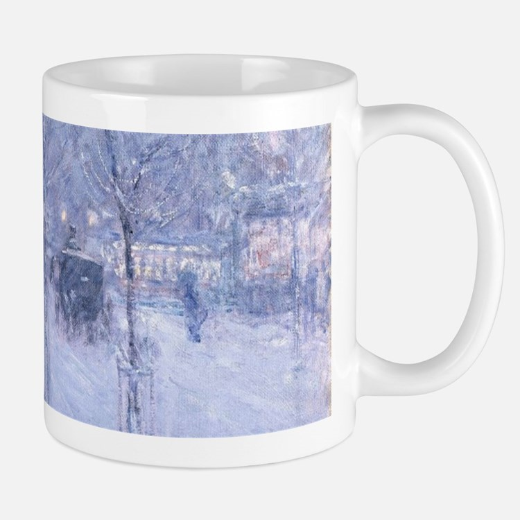 Late Afternoon New York Winter - Childe Hassa Mugs