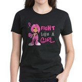Fight like a girl Women's Dark T-Shirt