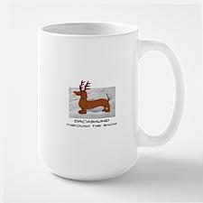 DACHSHUND THROUGH THE SNOW - DOGS Large Mug
