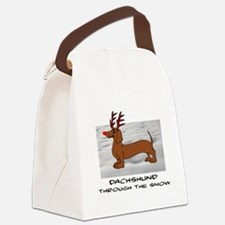 DACHSHUND THROUGH THE SNOW - DOGS Canvas Lunch Bag