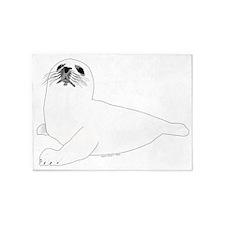 Baby Harp Seal 5'x7'Area Rug