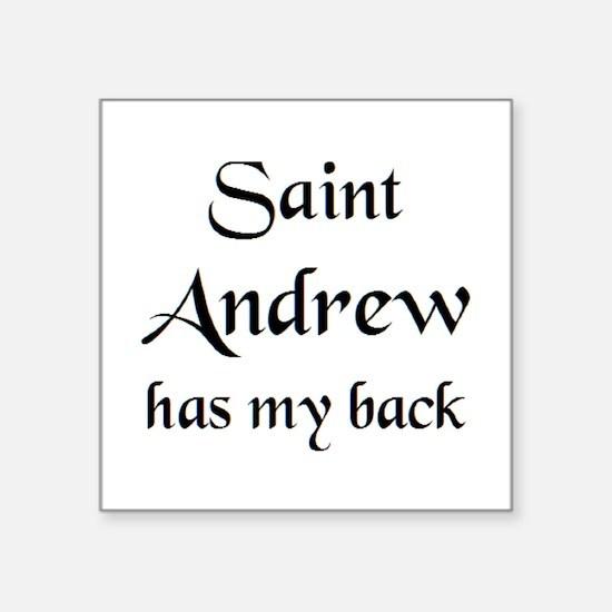 "saint andrew Square Sticker 3"" x 3"""