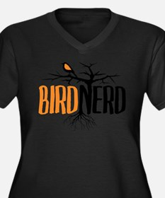 Cute Ornithology Women's Plus Size V-Neck Dark T-Shirt