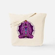 Yoga Girl Sitting Yoga Pose Tote Bag