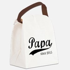 Papa since 2015 Canvas Lunch Bag