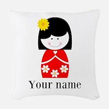 Girl (p) Woven Throw Pillow