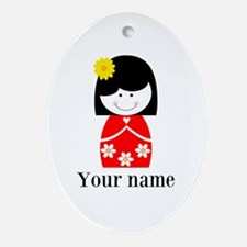 Girl (p) Oval Ornament