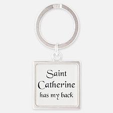 saint catherine Square Keychain