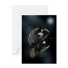 Cresent Witch Greeting Cards