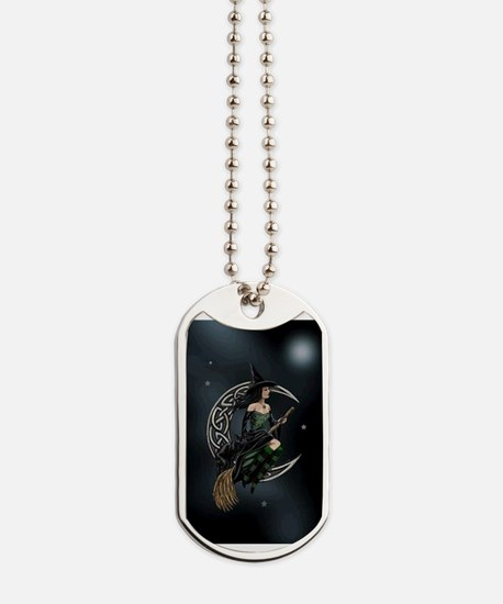 Cresent Witch Dog Tags