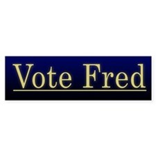 Vote Fred Bumper Bumper Sticker