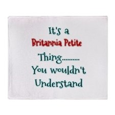 Brit Thing Throw Blanket