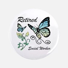 Retired Social Worker Button