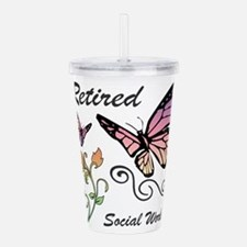 Retired Social Worker Acrylic Double-wall Tumbler