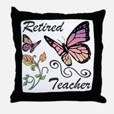 Retired Teacher Throw Pillow