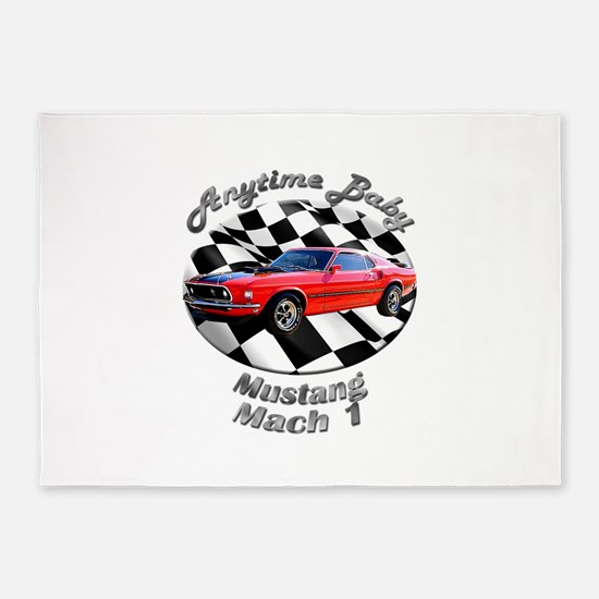 Ford Mustang Mach 1 5`x7`Area Rug