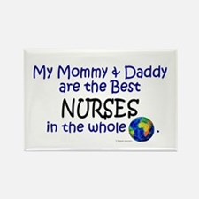 Best Nurses In The World Rectangle Magnet (100 pac