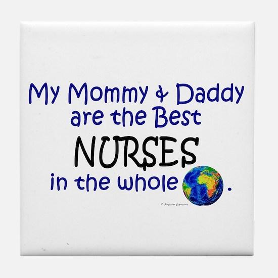 Best Nurses In The World Tile Coaster