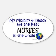 Best Nurses In The World Oval Decal