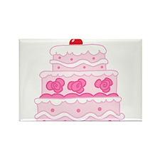 Cute Cake baker Rectangle Magnet
