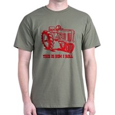 This Is How I Roll Tractor Red T-Shirt