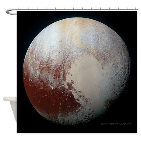 Pluto - The Largest Dwarf Planet Shower Curtain by ...