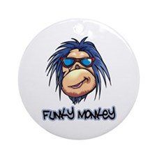 Funky Monkey Ornament (Round)
