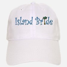 Island Bride with Palm Tree Baseball Baseball Cap