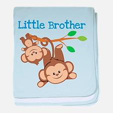 Monkeys Little Bro W Big Bro Baby Blanket
