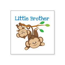 "Monkeys Little Bro W Big Br Square Sticker 3"""