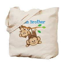 Monkeys Little Bro W Big Bro Tote Bag