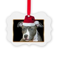 Christmas pitbull puppy.png Ornament