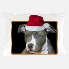 Christmas pitbull puppy.png Pillow Case