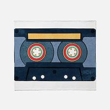 Blue Cassette Throw Blanket