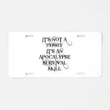 SKILLS Aluminum License Plate