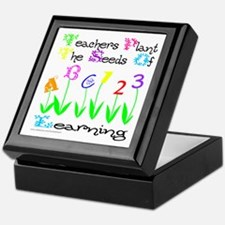 TEACHERS PLANT THE SEEDS OF LEARNING Keepsake Box
