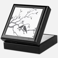 Cute Birds on branch Keepsake Box