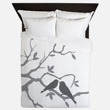 Cute Love birds Queen Duvet